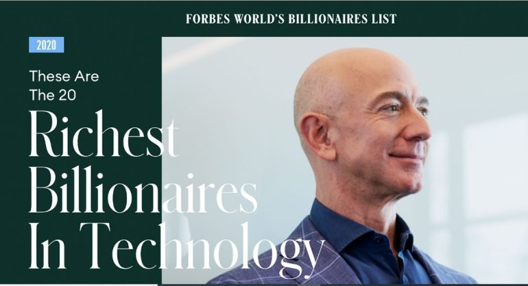 These are the 20 richest billionaires in Technology