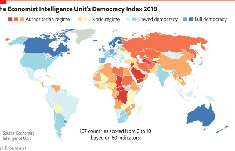 """Gürcistan """"Demokrasi endeksinde"""" geriledi, 89. sırada yer aldı"""
