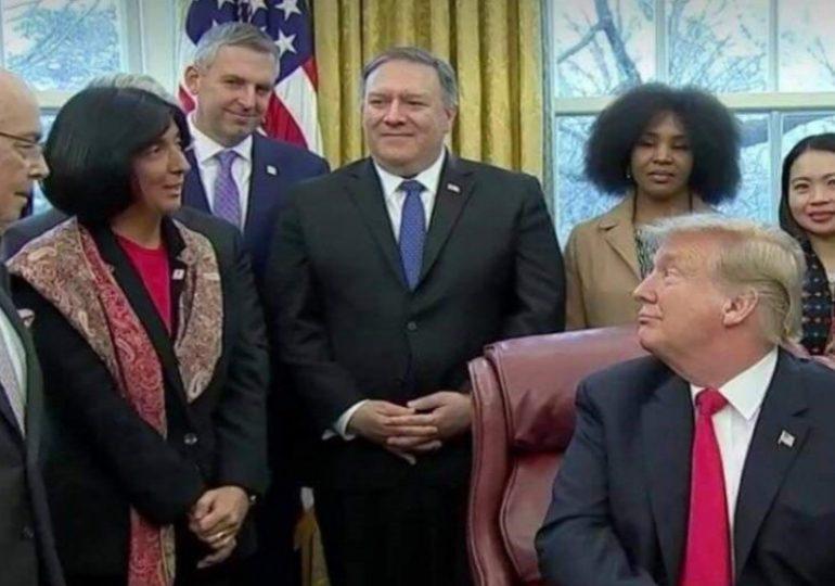 Beyaz Saray'da, ABD Başkanı ile düzenlenmiş toplantıda Nino Zambakhidze'nin yaptığı konuşma
