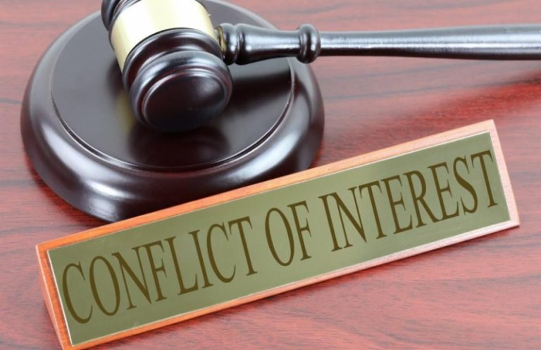 Brief description of representative authority of the director and conflict of interest