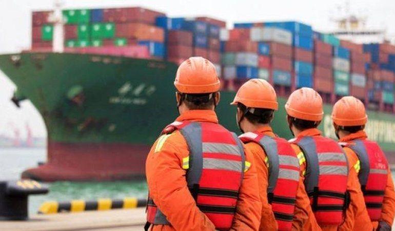 China exports fall again as US trade war continues