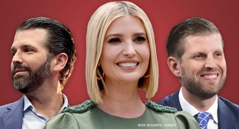 Here's How Much Don Jr, Eric and Ivanka Trump Are Worth