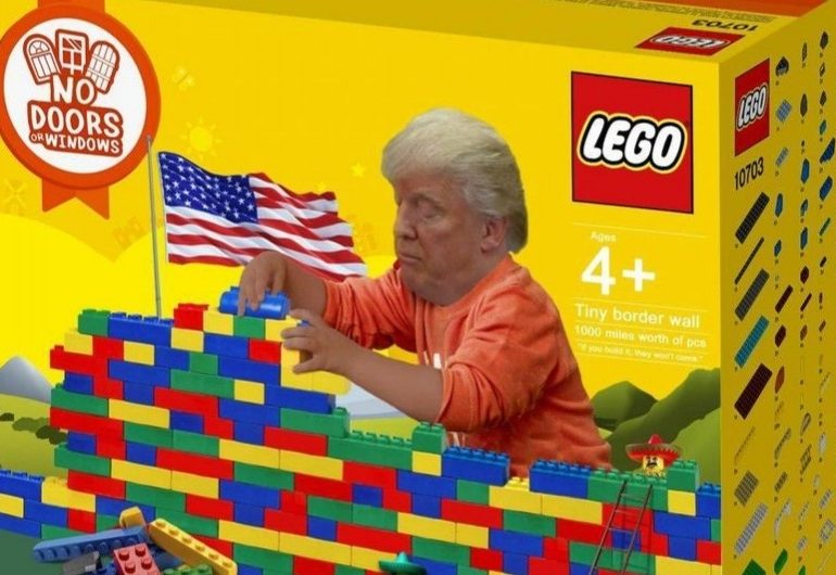 Donald Trumps Border Wall Inspires Lego Fan To Create Funny Design