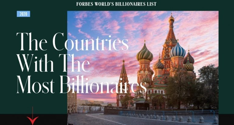 The countries with the most billionaires