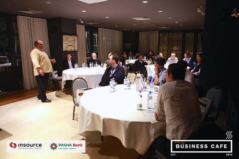 ბიზნეს კაფე - კომპანია ინსორსი და პაშა ბანკის ერთობლივი პროექტის მეორე შეხვედრა