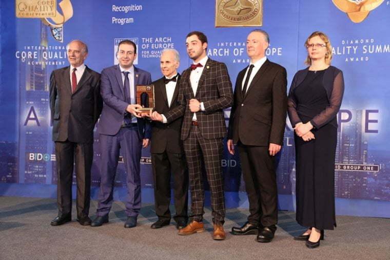 """""""ალიანს ჯგუფმა"""" International Arch of Europe-ის ჯილდო მიიღო"""