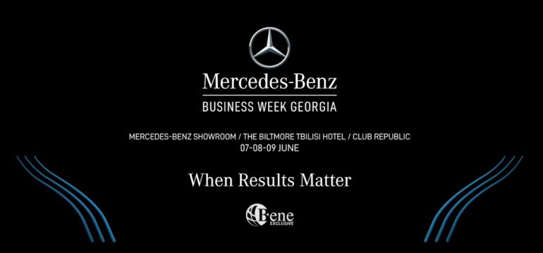 Mercedes-Benz Business Week Gürcistan'da ilk defa düzenlenecek