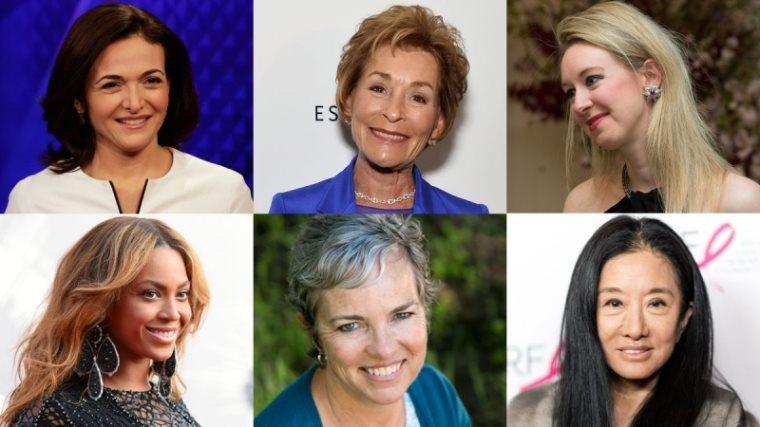 აშშ-ის 50 ყველაზე წარმატებული, სელფმეიდი ქალის რეიტინგი
