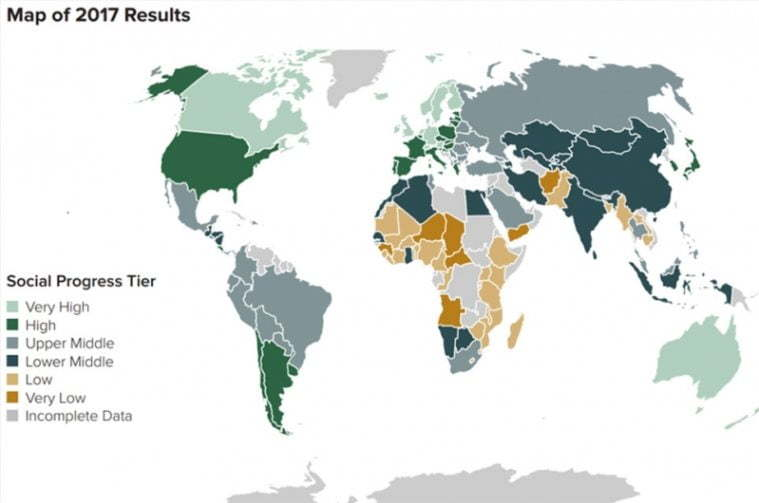 Georgia has advanced in the Social Progress Index