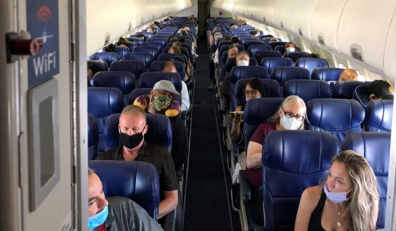 COVID-19: Virus Risk Extremely Low On Airplanes If Passengers Follow Mask Rule, Study Shows