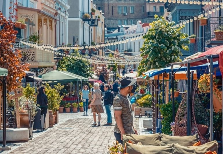 The number of tourists visited Georgia in July increased by 1%