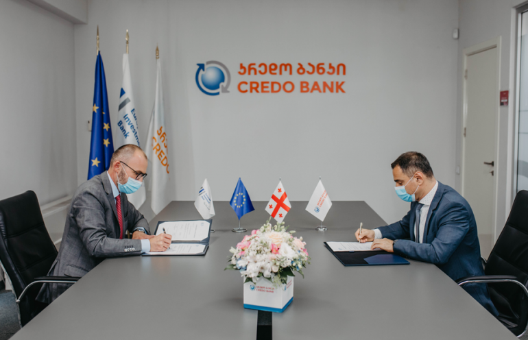 Credo Bank and The European Investment Bank Signed GEL 36 Million Finance Agreement to Support MSMEs in Georgia
