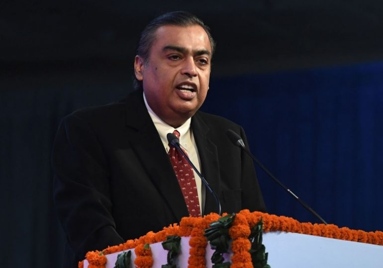 Ambani Tops Ma as Asia's Richest After Deal With Zuckerberg