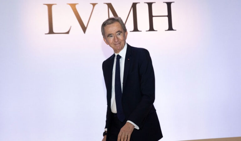 Bernard Arnault is world's second richest person, adding billions as market rallies