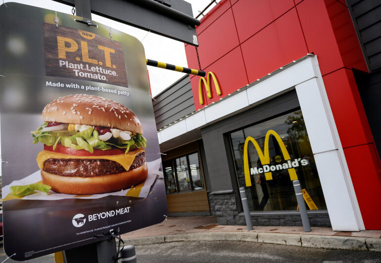 McDonald's to introduce plant-based burgers and fast food