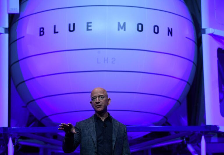 Bezos says Blue Origin will take the first woman to moon's surface