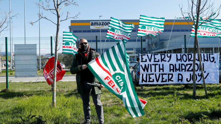 Amazon workers go on strike in Italy over labor conditions
