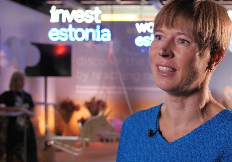 ესტონეთის პრეზიდენტი ქვეყანაში ტექნოლოგიური სტარტაპების ეკოსისტემის განვითარების მიზეზზე საუბრობს